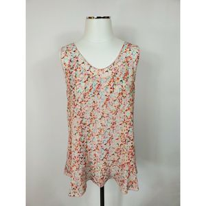 CAbi Sleeveless Spring Floral Top S